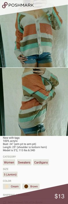 New Button Up Distressed Cardigan Sweater See last picture for item details boutique Sweaters Cardigans