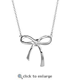 Tiffany Inspired Bow Pendant