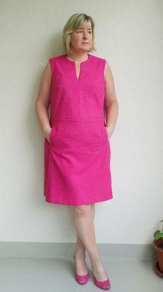 Plus Size Shirt Dress, Bodycon Dress With Sleeves, Linen Dress Pattern, Dress Sewing Patterns, Simple Dresses, Casual Dresses, Summer Dresses, Linen Dresses, Cotton Dresses