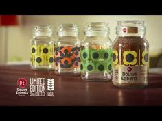 Limited edition Douwe Egberts Orla Kiely collection coffee jars