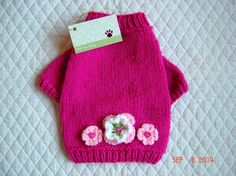 Hand Knit Dog Sweater, Pet Sweater, Sweaters for Dogs, Size SMALL, Available XXSmall - Medium, Pet Clothing, Dog Clothes, Handmade, Posies