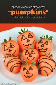 Chocolate Covered Strawberry Pumpkins Recipe
