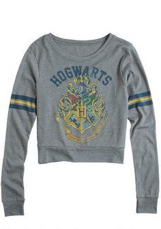Hogwarts Long-Sleeve Tee. Yes, I do want this... And because it's sized so dang small I need a large.