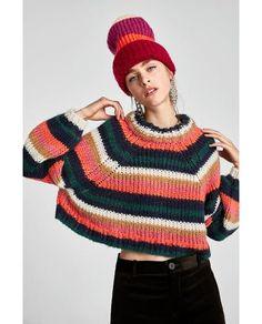 画像 2 の リボン付きストライプ柄セーター ザラから