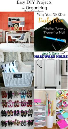 Easy DIY Projects for Organizing!