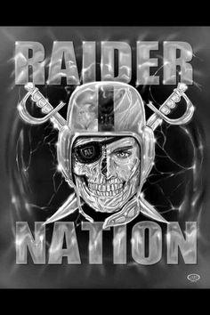 Raiders Vegas, Raiders Sign, Raiders Stuff, Oakland Raiders Football, Raiders Baby, Nfl Oakland Raiders, Raider Nation, Dodgers, Raiders Tattoos
