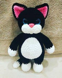 Amigurumi Doll Pattern, Crochet Cat Pattern, Crochet Amigurumi Free Patterns, Crochet Geek, Cat Crochet, Crochet Animals, Stuffed Toys Patterns, Handmade Toys, Baby Knitting