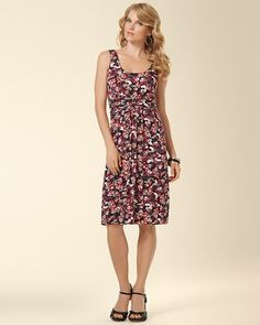 7d40a7447d Soma Intimates Sleeveless Wrapped Short Dress Ditsy Floral  somaintimates  Floral Frocks