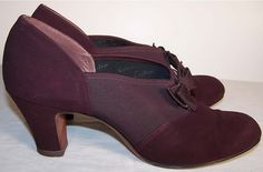 SO Cute, Purple Vintage Womens Shoes - Fashion 1940s.org | The 1940s