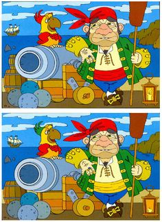 Find Out Whats Wrong With This Image With Zebras Preschool Pirate Theme, Pirate Activities, Hidden Pictures, Cute Pictures, Spot The Difference Kids, English Adventure, Maze Game, School Humor, Worksheets For Kids