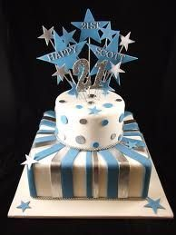 21st birthday cakes for guys - Google Search