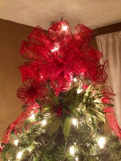 Bow tree topper