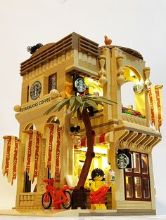 "LEGO Starbucks Mediterannean Cafe (16x16) ""The beauty of the Mediterranean style, from coast to a cup of coffee"""