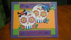 Stamping Journey Inspiration Sugar Skulls.... so awesome. They are from the Day of the Dead stamp set (Fun Stampers Journey).