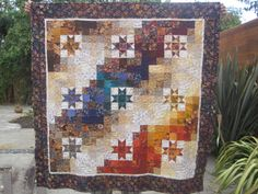 star quilts   the whole thing was quilted and the border leaf pattern was done too i ...