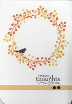 Autumn Wreath by LauriBColeman - Cards and Paper Crafts at Splitcoaststampers Stampin' Up! Fall Card