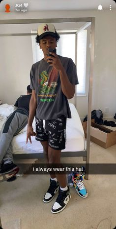 Dope Outfits For Guys, Swag Outfits Men, Summer Outfits Men, Fashion Outfits, Black Men Street Fashion, Swagg, Streetwear Fashion, Beckham Jr, Basketball Players