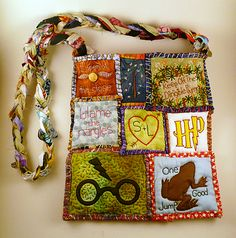 The Triwizard Bags of Glory!! more Potter patchwork bag madness. Oh my gosh I love all her bags!!!