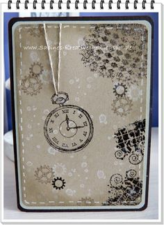 Stampin´Up: Clockworks & French Foliage Stamp Sets - Masculine Card
