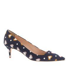 J.Crew - Dulci printed kitten heels