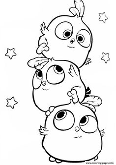 angry birds hatchlings the blues coloring pages printable and coloring book to print for free. Find more coloring pages online for kids and adults of angry birds hatchlings the blues coloring pages to print. Easy Doodles Drawings, Cute Cartoon Drawings, Cute Easy Drawings, Cute Animal Drawings, Bird Drawings, Doodle Cartoon, Cartoon Birds, Cute Doodle Art, Bird Doodle