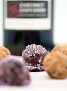 Red Wine Chocolate Truffles and a Wine Party