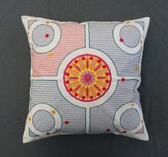 Summer. Embroidered #pillow by #GN-Atelier by #GNatelier. https://www.facebook.com/GN_design-1617224841891321