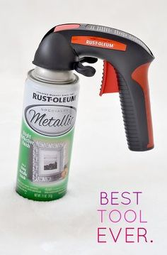 "Best spray paint ""investment"" you will ever make! Spray paint hand gun Saves your finger and helps spray a nice even coat. This is a MUST-PIN!"