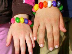 Easter Crafts for Kids: Jellybean Bracelet
