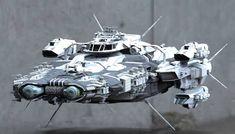 by Santobell on DeviantArt Spaceship Art, Spaceship Design, Star Wars Vehicles, Flying Vehicles, Sci Fi Anime, Starship Concept, Sci Fi Spaceships, Space Battles, Sci Fi Models