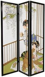 6 ft. Tall Geisha Shoji Screen