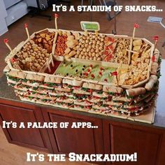 Snack Stadium - IF THE BEARS EVER GET TO THE SUPER BOWL I AM GONNA MAKE ONE OF THESE!!!!!