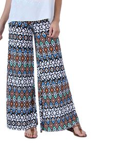 Look what I found on #zulily! White & Mint Diamond Palazzo Pants by Collective Rack #zulilyfinds