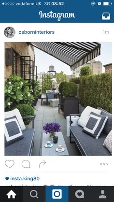 Contemporary Patio and Deck in New York, NY by Timothy Whealon Inc. Rooftop Terrace Design, Terrace Decor, Rooftop Patio, Outdoor Balcony, Terrace Garden, Outdoor Rooms, Patio Design, Backyard Patio, Backyard Landscaping