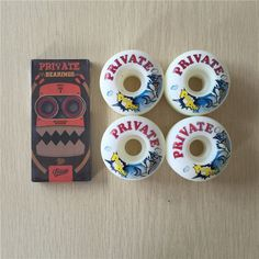 2016 Original Complete Skateboard Parts Private ABEC-7 Skateboard Bearings And Private PU Skateboarding Wheels