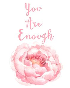 You Are Enough  Inspirational Quote  by crystalinspiration on Etsy