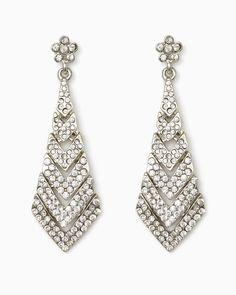 charming charlie Pav Teardrop Dangle Earrings UPC 400000225494