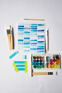 A beautiful watercolor exercise to try - great for beginners