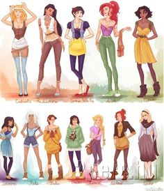 How would the Disney girls look like today? :-)