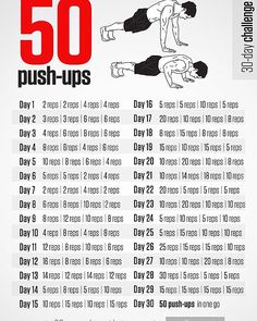 Here is the push-up card for all that are joining me this January. #fitdad #pushup #action