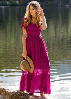 Anna Dress in Plum - Mademoiselle Cute Dresses, Girls Dresses, Maxi Dresses, Awesome Dresses, Summer Work Outfits, Summer Dresses, Anna Dress, Colored Wedding Dresses, Colorful Fashion