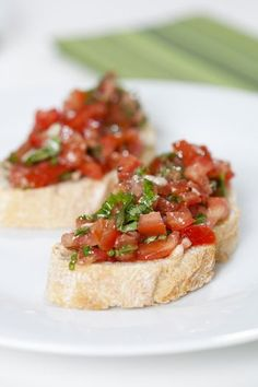 How to make authentic Italian tomato-and-basil bruschetta, with suggestions for variations.