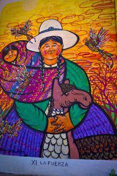 Beautiful street art in Cochabamba, Bolivia - http://nomadbiba.com/cochabamba-street-art-in-bolivia/