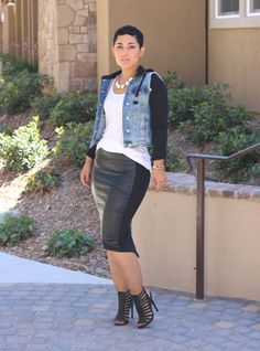 "ecstasymodels: ""I'm a Baddie Leather Skirt Mimi G. I Love Fashion, Passion For Fashion, Girl Fashion, Fashion Looks, Fashion Outfits, Womens Fashion, Fashion Trends, Casual Chic, Looks Style"