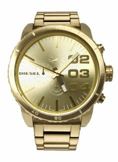 the watch is new diesel dz4268 51 series gold tone sunray dial diesel dz4268 51 series chrono gold tone sunray dial metal bracelet men watch new diesel