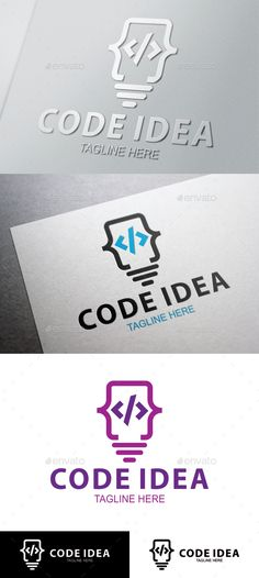 Code Idea Logo Template Vector EPS, AI, CDR. Download here: http://graphicriver.net/item/code-idea-logo/14123966?ref=ksioks