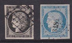 FRANCE 1849/1850. N°3 ET 4 OBL TRES BIEN MARGES.  TB  120€  D260
