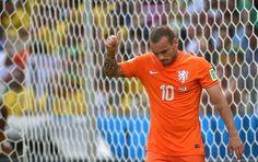 Sneijder deixa tudo igual no Castelão! #NED 1 x 1 #MEX.
