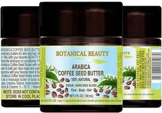 ARABICA COFFEE SEED BUTTER 100 % Natural / 100% PURE BOTANICALS. VIRGIN/ UNREFINED BLEND. Cold Pressed. 4 Fl.oz.- 120 ml. For Skin, Hair and Nail Care. 'One of the best butters to reduce wrinkles, puffiness, dark circles. Powerful Anti-Cellulite.' -- This is an Amazon Affiliate link. Find out more about the great product at the image link. Best Butter, Bath Gel, Nail Repair, Anti Cellulite, Seed Oil, Anti Aging Skin Care, Nail Care, Hair And Nails, 100 Pure