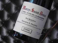 """Morey-Saint-Denis """"Clos De La Bussière"""" 1er Cru 2006. Domaine G. Roumier. Vin rouge de Bourgogne #1ercru #redwine #wine #winelover"""